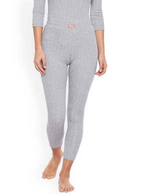 NEVA Women Grey Solid Thermal Bottoms