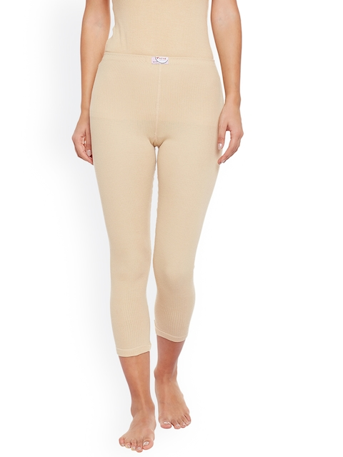 NEVA Women Beige Solid Thermal Bottoms