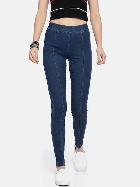 Roadster Women Blue Regular Fit Stretchable Jeggings