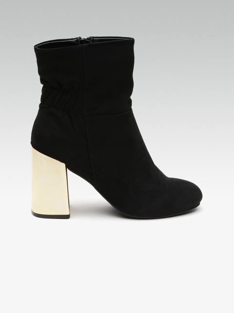 DOROTHY PERKINS Women Black Solid Heeled Boots