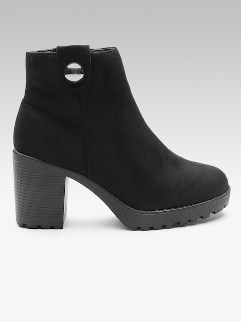 DOROTHY PERKINS Women Black Solid Heeled Boots