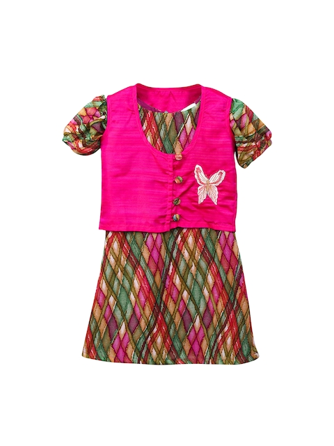 LilPicks Girls Pink Kurti