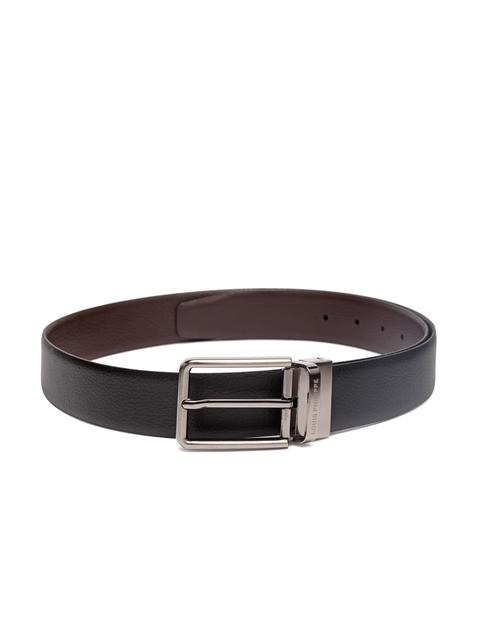 Louis Philippe Men Black & Brown Leather Reversible Belt