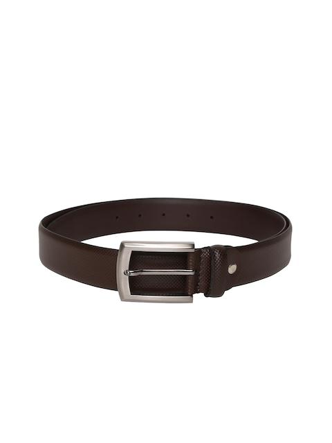 Louis Philippe Men Brown Solid Belt