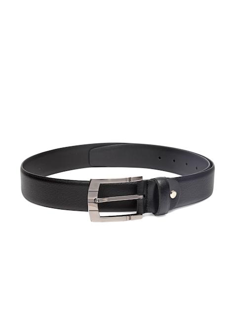 Louis Philippe Men Black Leather Belt