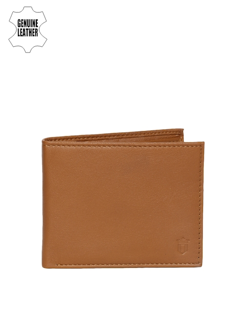 Louis Philippe Men Tan Brown Genuine Leather Two Fold Wallet