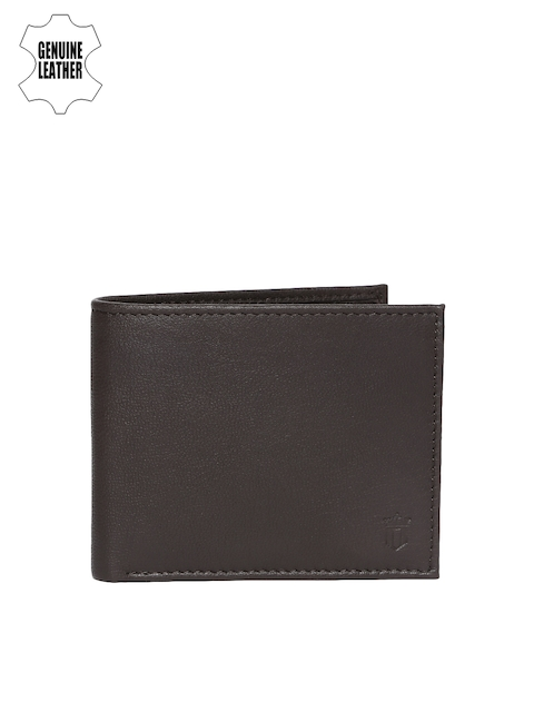 Louis Philippe Men Brown Genuine Leather Two Fold Wallet
