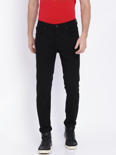 Lee Men Black Bruce Skinny Fit Mid-Rise Clean Look Jeans