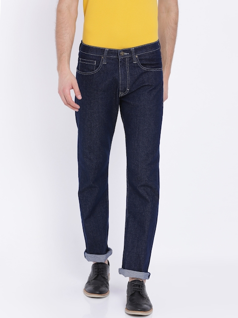 Lee Men Blue Regular Fit Mid-Rise Clean Look Stretchable Jeans