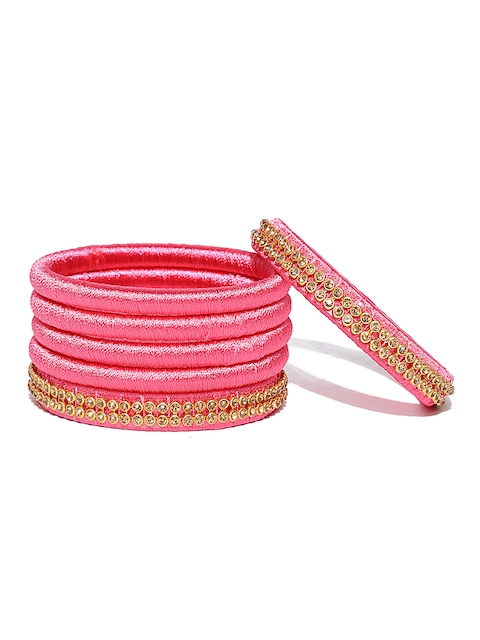 YouBella Set of 6 Pink Bangles