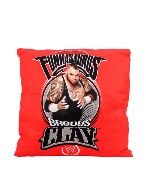 Simba Kids Unisex Red Printed 14 x 14 Brodus Clay Cushion