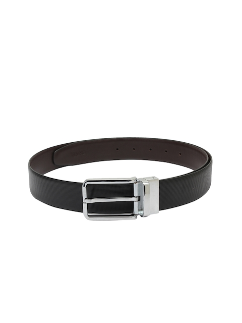 CHISEL Men Black & Brown Textured Leather Belt