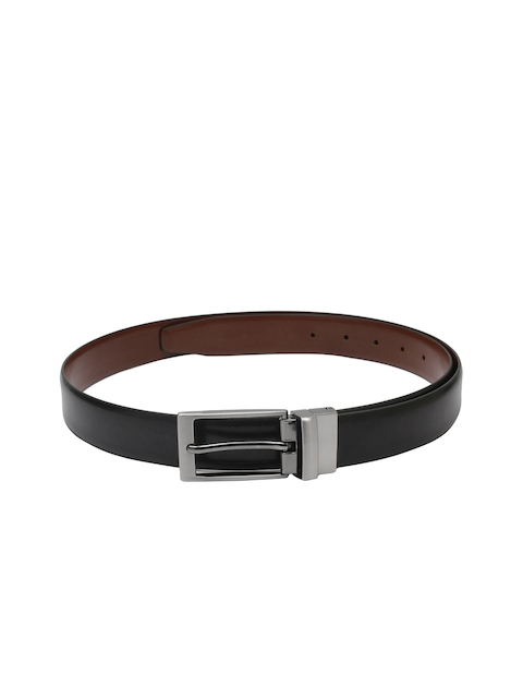 CHISEL Men Black & Brown Solid Leather Belt