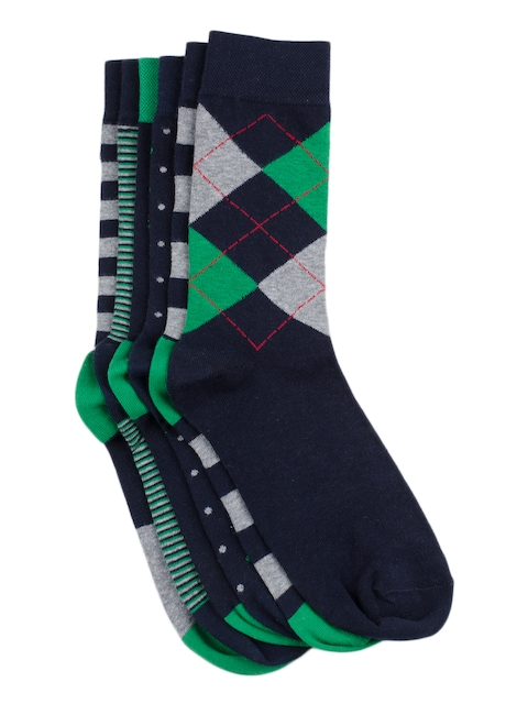 Tossido Men Set of 6 Checked Above Ankle-Length Socks