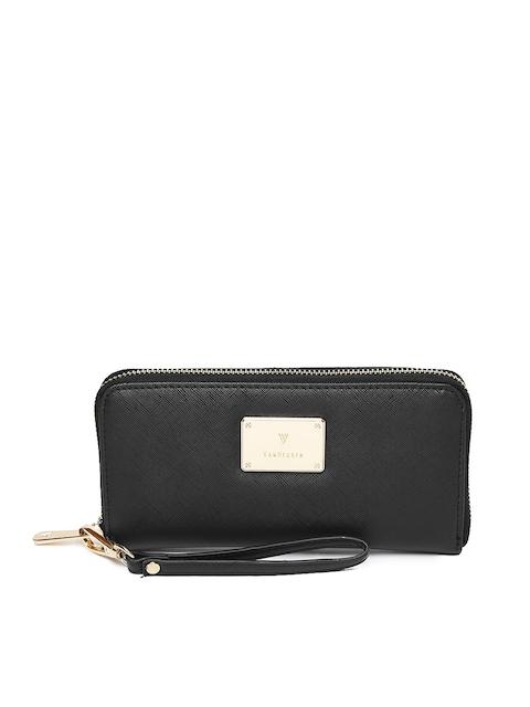 Van Heusen Woman Black Solid Zip Around Wallet