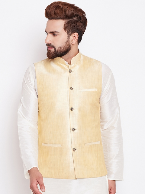 SOJANYA Gold-Toned Nehru Jacket