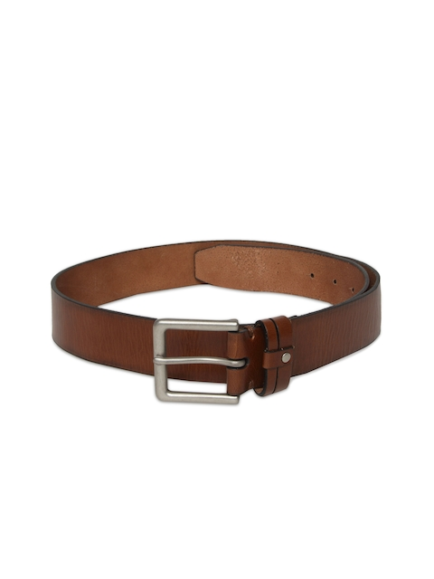 U.S. Polo Assn. Men Brown Solid Leather Belt