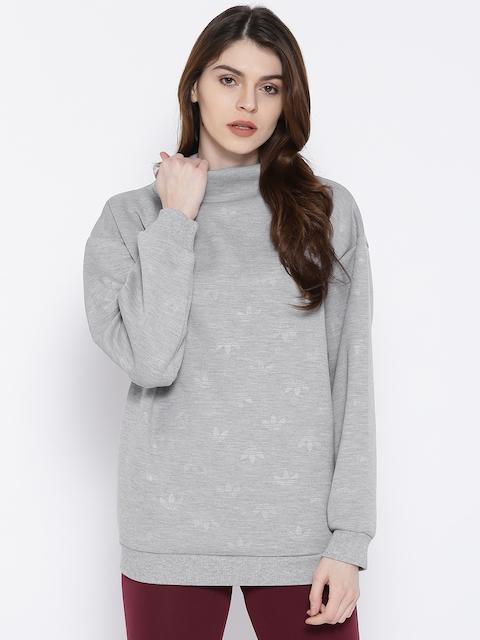 Adidas Originals Grey Melange Brand Logo Sweatshirt