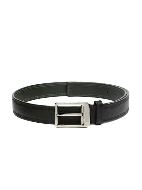 Hidesign Men Black Leather Belt