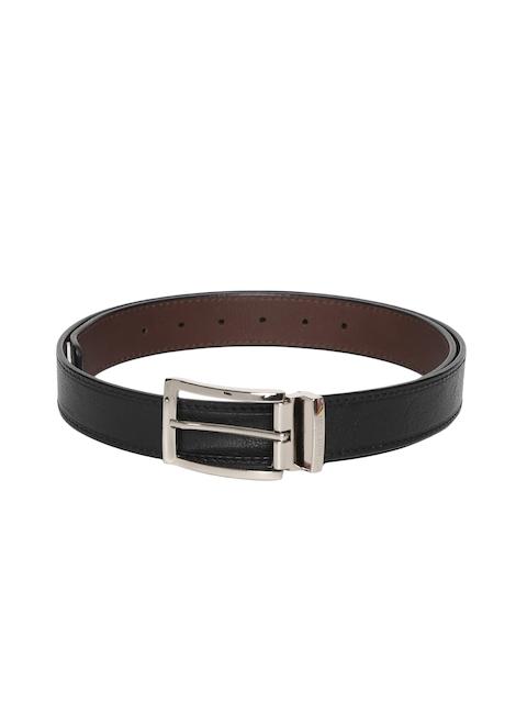 Hidesign Men Black Solid Leather Belt