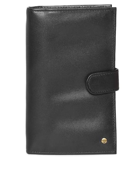 Hidesign Men Black Leather Two Fold Wallet