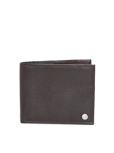 Hidesign Men Coffee Brown Leather Two Fold Wallet