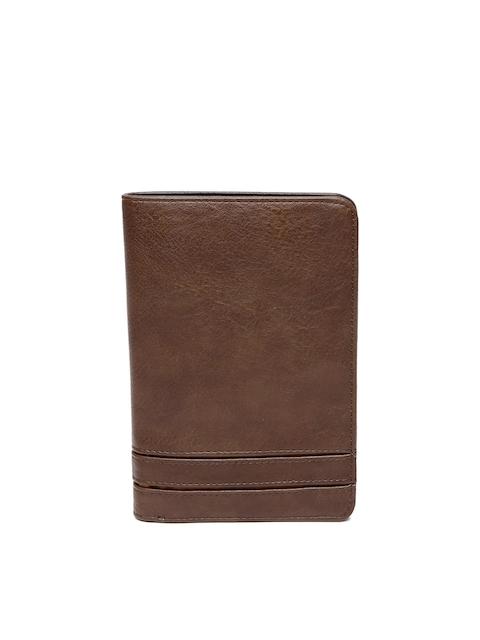 Baggit Men Brown Solid Two Fold Wallet