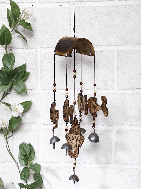 Unravel India Brown Bamboo Fish Windchime