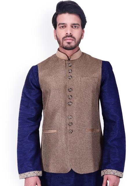 Manyavar Brown Waistcoat