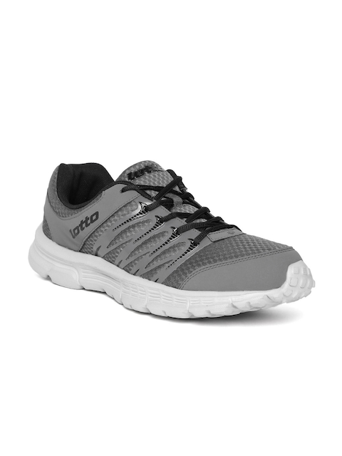 Lotto Men Grey Adriano Track Running Shoes