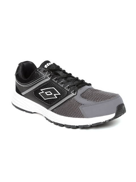 Lotto Men Black & Grey Fausto Track Running Shoes