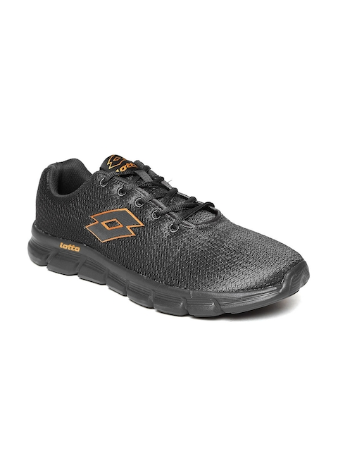 Lotto Men Black Vertigo Track Running Shoes