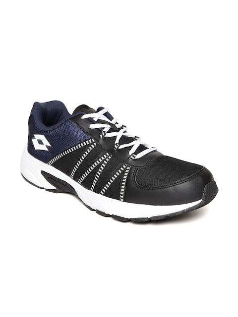 Lotto Men Black & Navy Redon Track Running Shoes