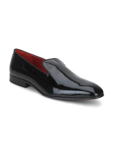 Raymond Men Black Leather Formal Shoes