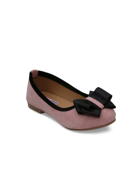 3d5be22abc16 25%off DChica Girls Pink Solid Synthetic Ballerinas