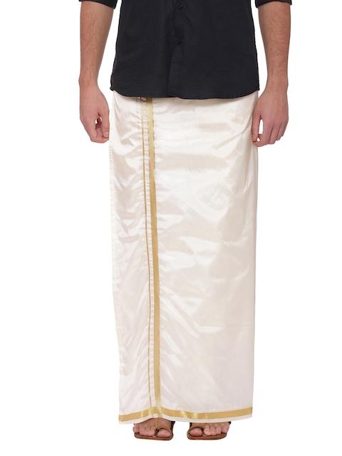 Sethukrishna Cream Solid Dhoti