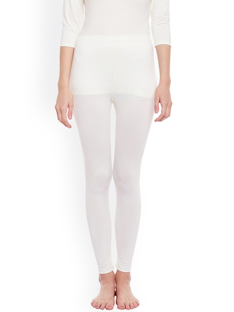 NEVA Women Off White Thermal Bottoms