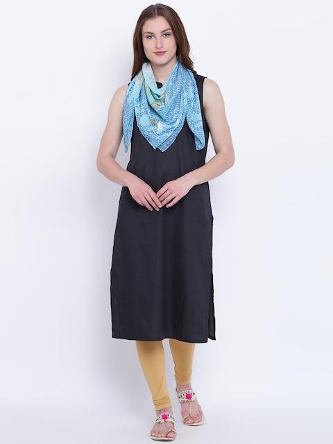 AURELIA Blue Printed Scarf