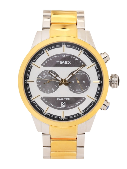 Timex Men Silver-Toned Analogue Watch TW000Y410