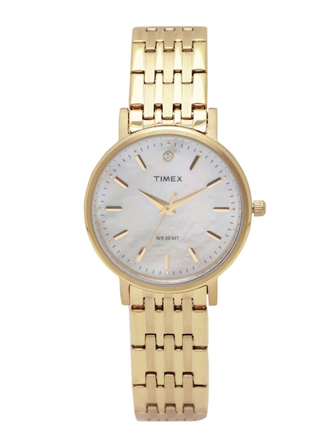 Timex Women Mother of Pearl Analogue Watch TW0TL9109