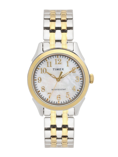 Timex Women Off-White Analogue Watch TW2R48400