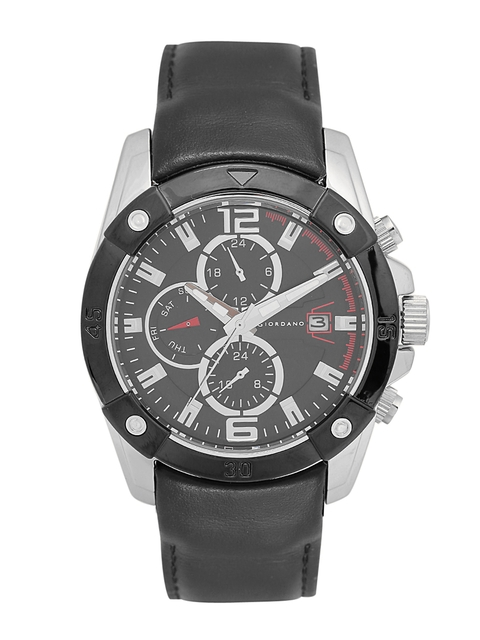 GIORDANO Men Black Multifunction Analogue Watch C1012-01