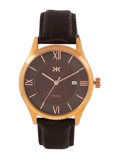 Killer Men Brown & Gold-Toned Analogue Watch