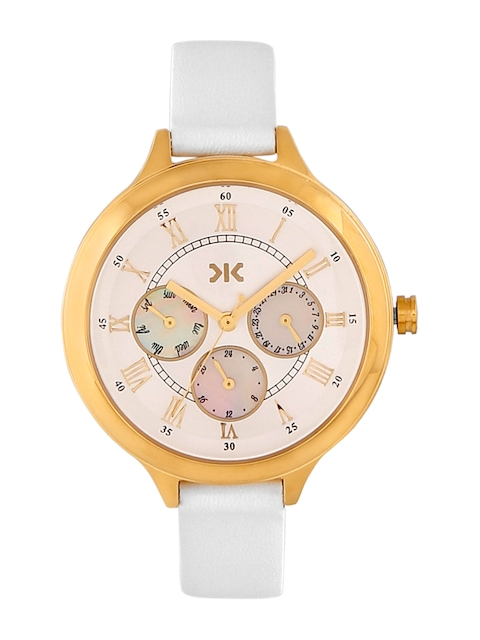 Killer Women Off-White & Gold-Toned Analogue Watch