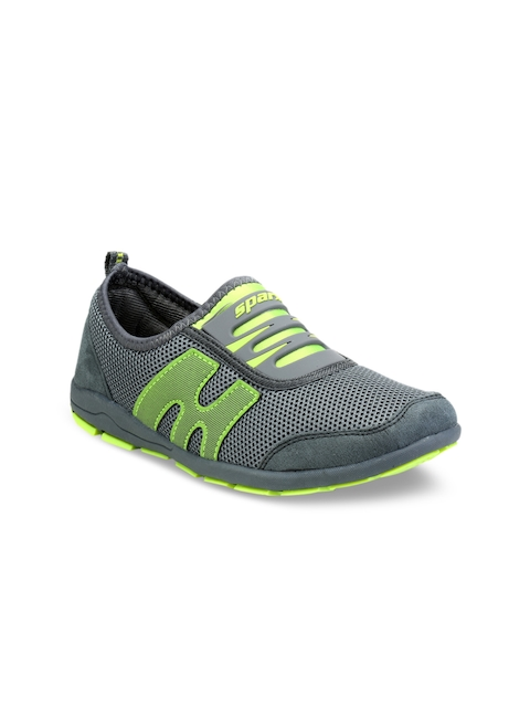 Sparx Women Grey And Green Running Shoes