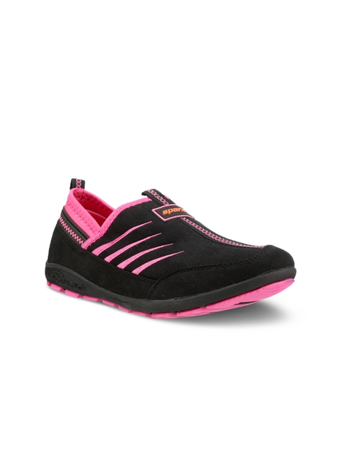 Sparx Women Black And Pink Running Shoes
