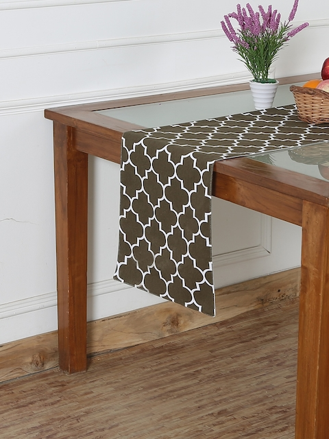 "RANGRAGE Brown  71"" x 13.5"" Fine Cotton Printed Table Runner"
