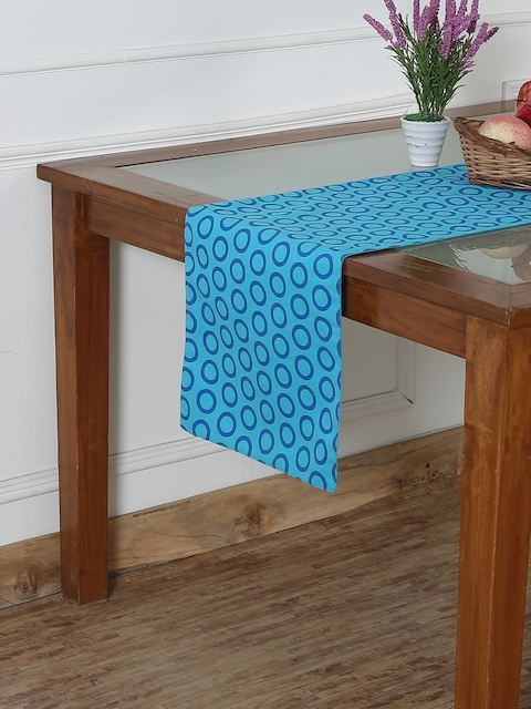 "RANGRAGE Blue 71"" x 13.5"" Fine Cotton Printed Table Runner"