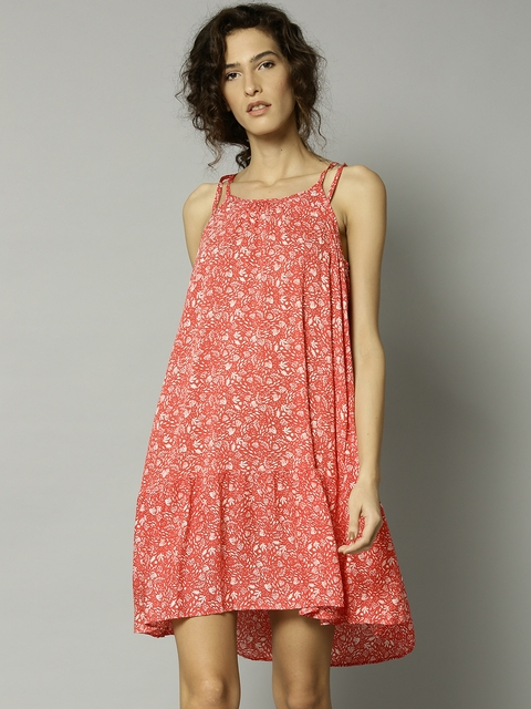 Marks & Spencer Coral Red Printed Cover-Up Dress 2730
