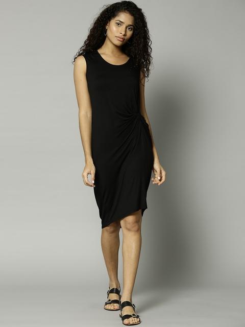 Marks & Spencer Women Black Solid Cover-Up Dress 6572